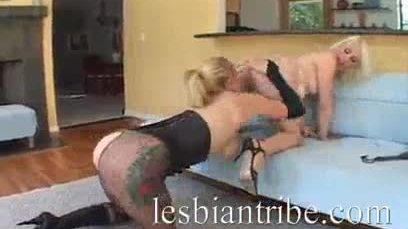 Black strapon for Lorelei Lee and Adrianna Nicole