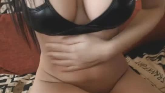 Busty babe playing on cam