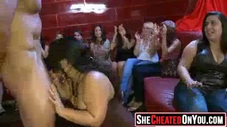 26 Slutty girls sucking cock at sex party13