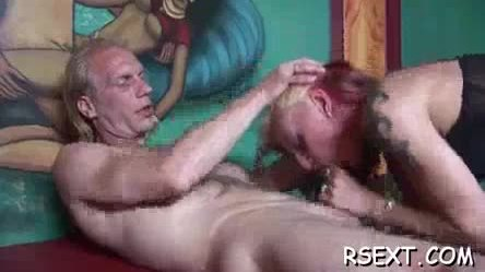 Horny wench gets down on knees and sucks a large dick wildly